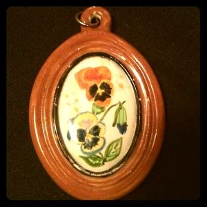 Unique Vintage 1971 Ceramic Pendant